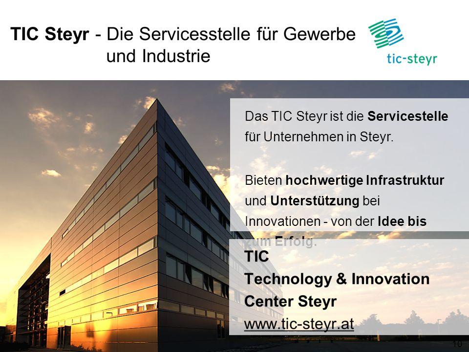Das TIC Steyr ist die Servicestelle für Unternehmen in Steyr