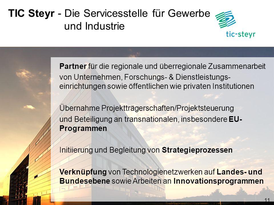 TIC Steyr - Die Servicesstelle für Gewerbe und Industrie