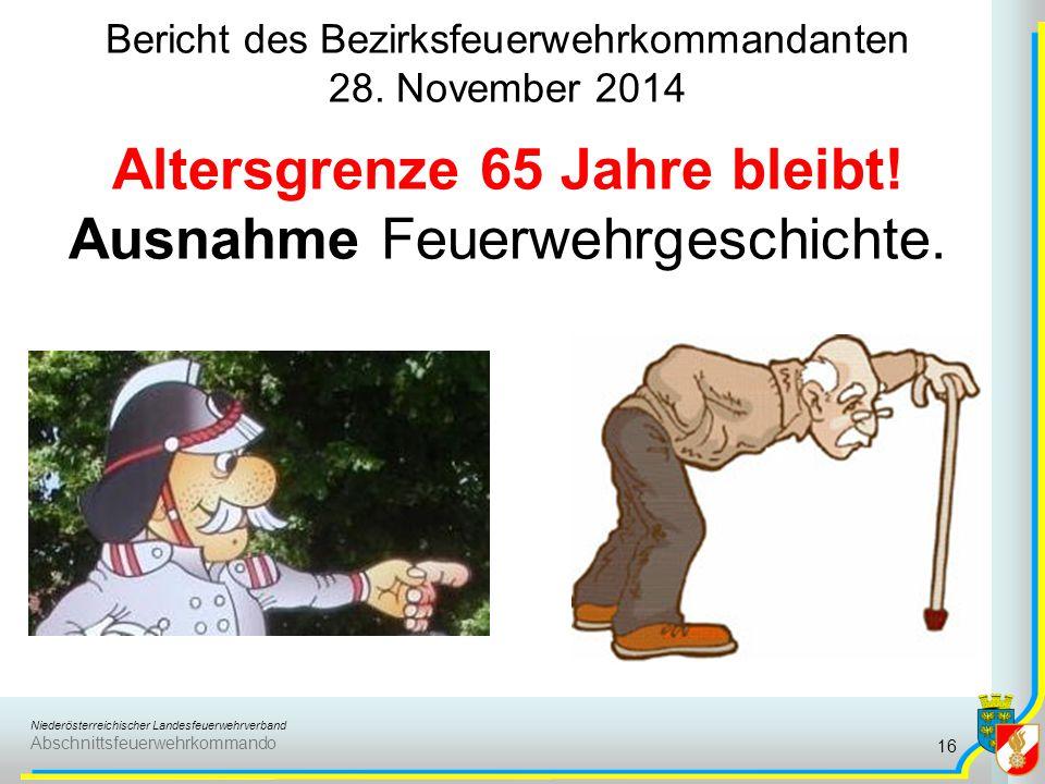 Bericht des Bezirksfeuerwehrkommandanten 28