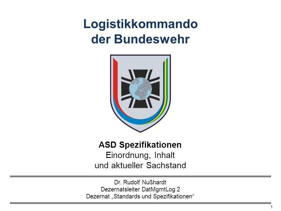 ASD Spezifikationen Einordnung, Inhalt und aktueller Sachstand