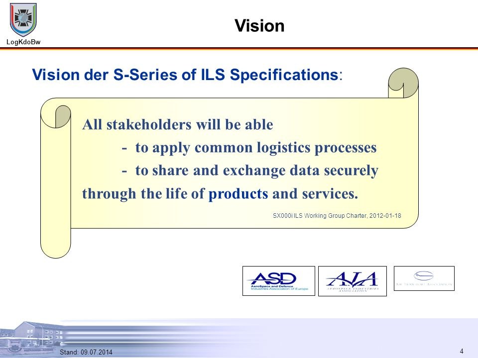 Vision Vision der S-Series of ILS Specifications: