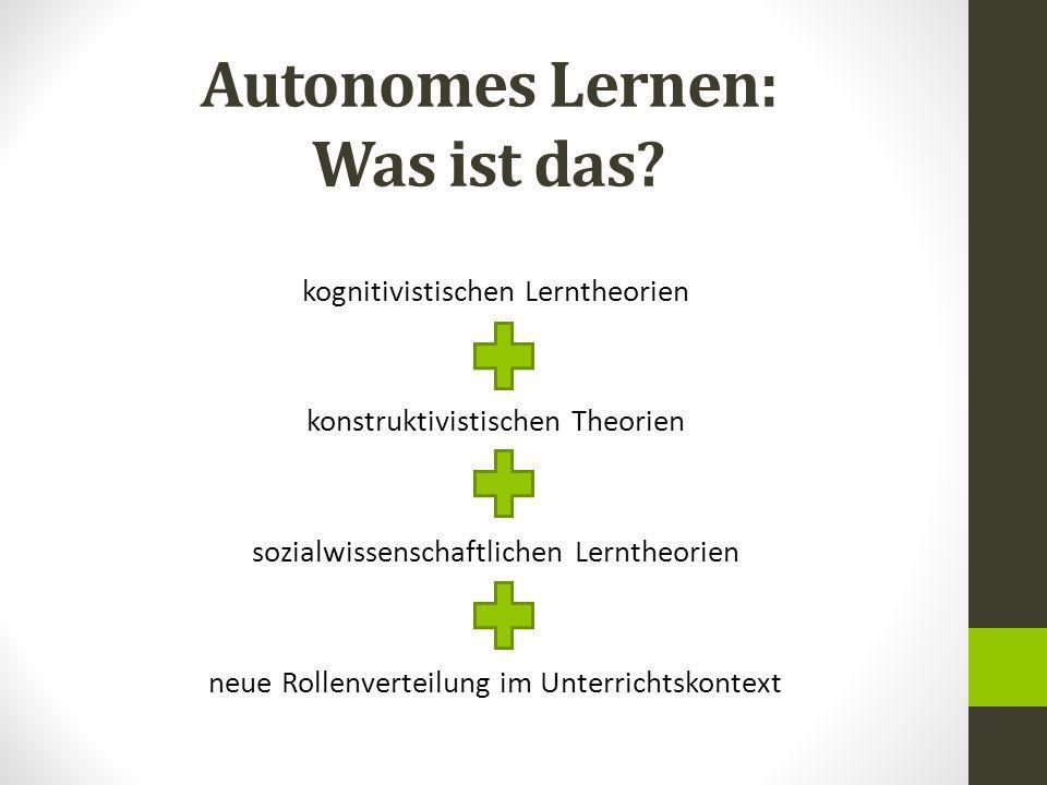 Autonomes Lernen: Was ist das