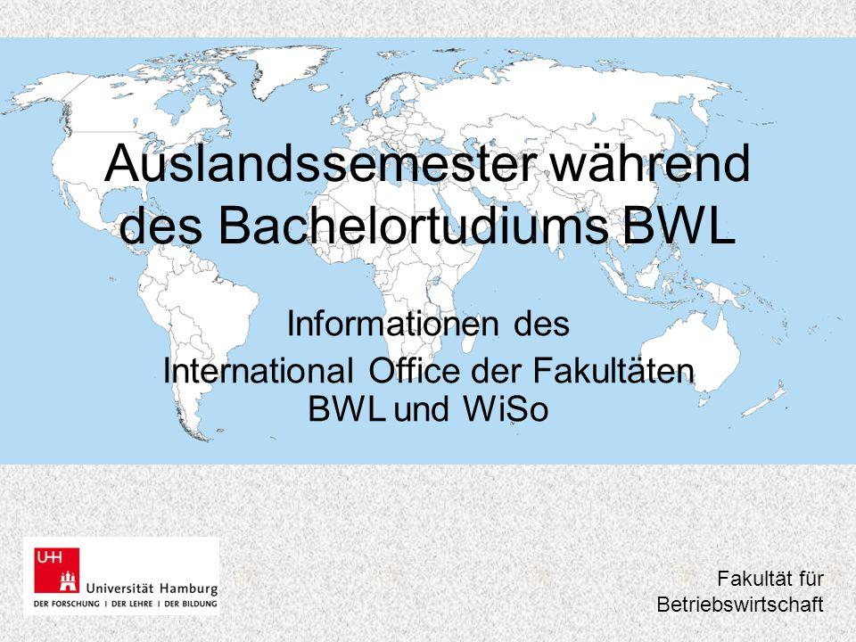 Auslandssemester während des Bachelortudiums BWL