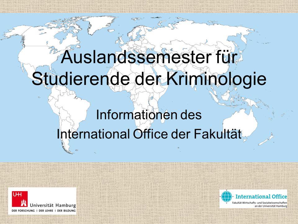 Auslandssemester für Studierende der Kriminologie