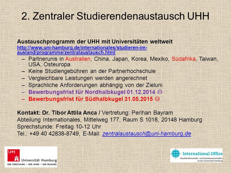 2. Zentraler Studierendenaustausch UHH