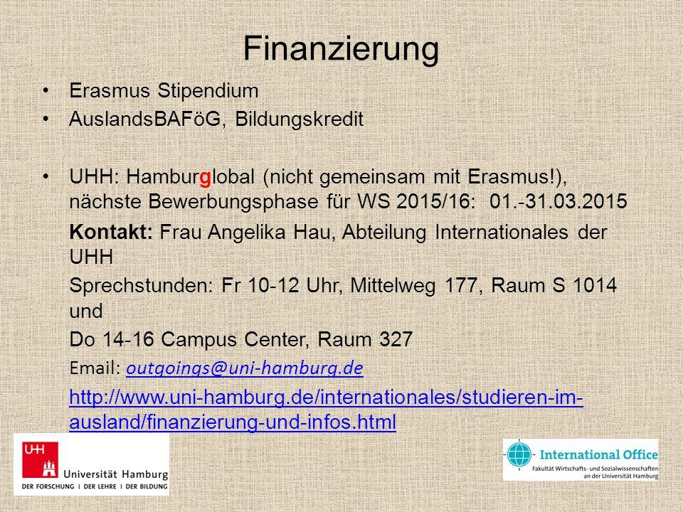 Finanzierung Erasmus Stipendium AuslandsBAFöG, Bildungskredit