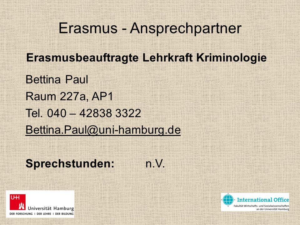Erasmus - Ansprechpartner