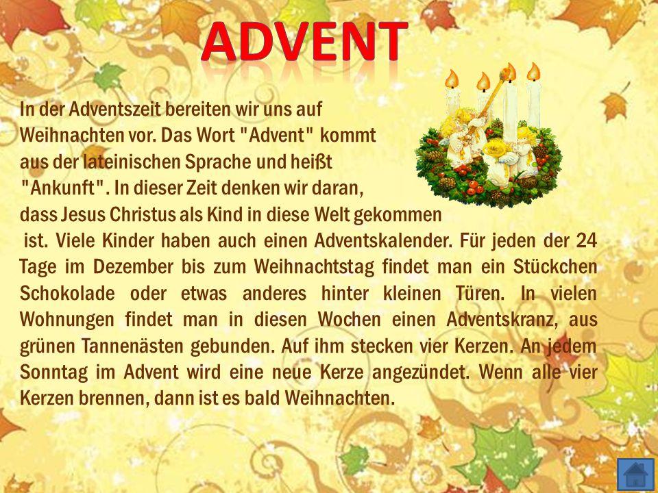 advent In der Adventszeit bereiten wir uns auf