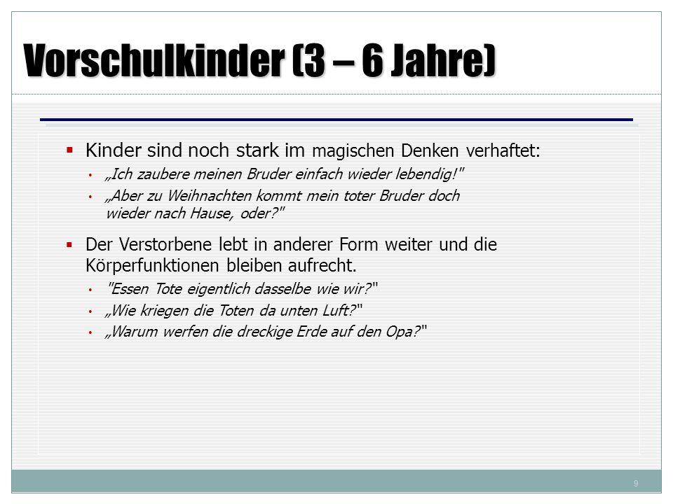 Vorschulkinder (3 – 6 Jahre)