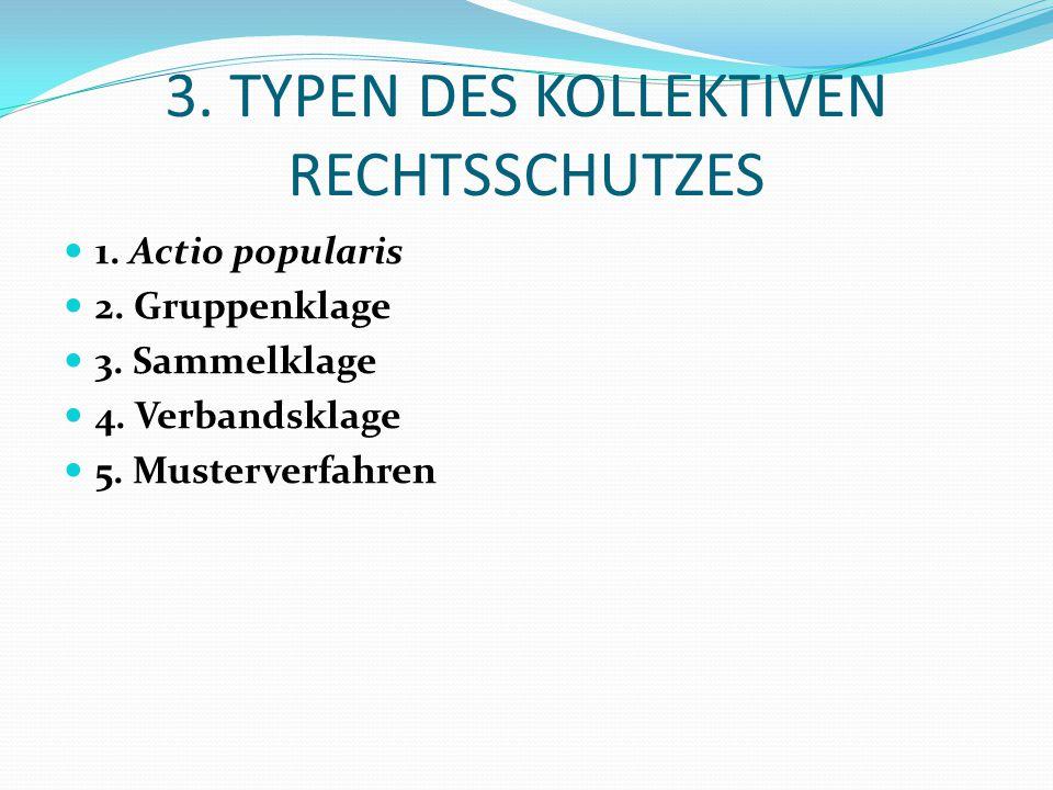 3. TYPEN DES KOLLEKTIVEN RECHTSSCHUTZES