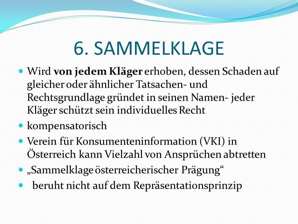 6. SAMMELKLAGE