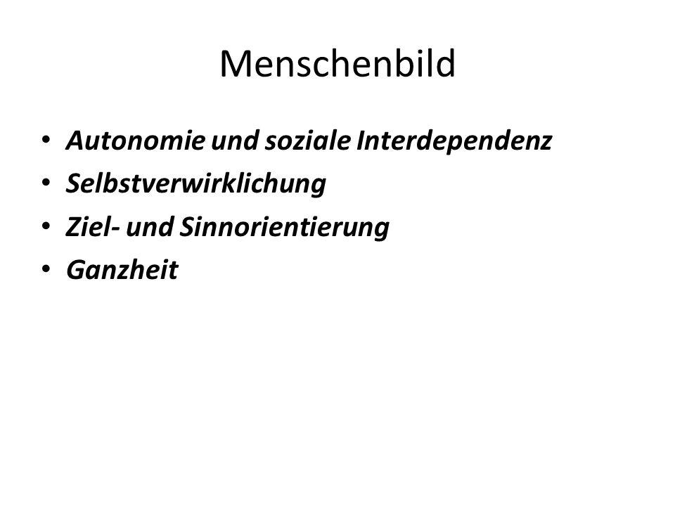 Menschenbild Autonomie und soziale Interdependenz Selbstverwirklichung