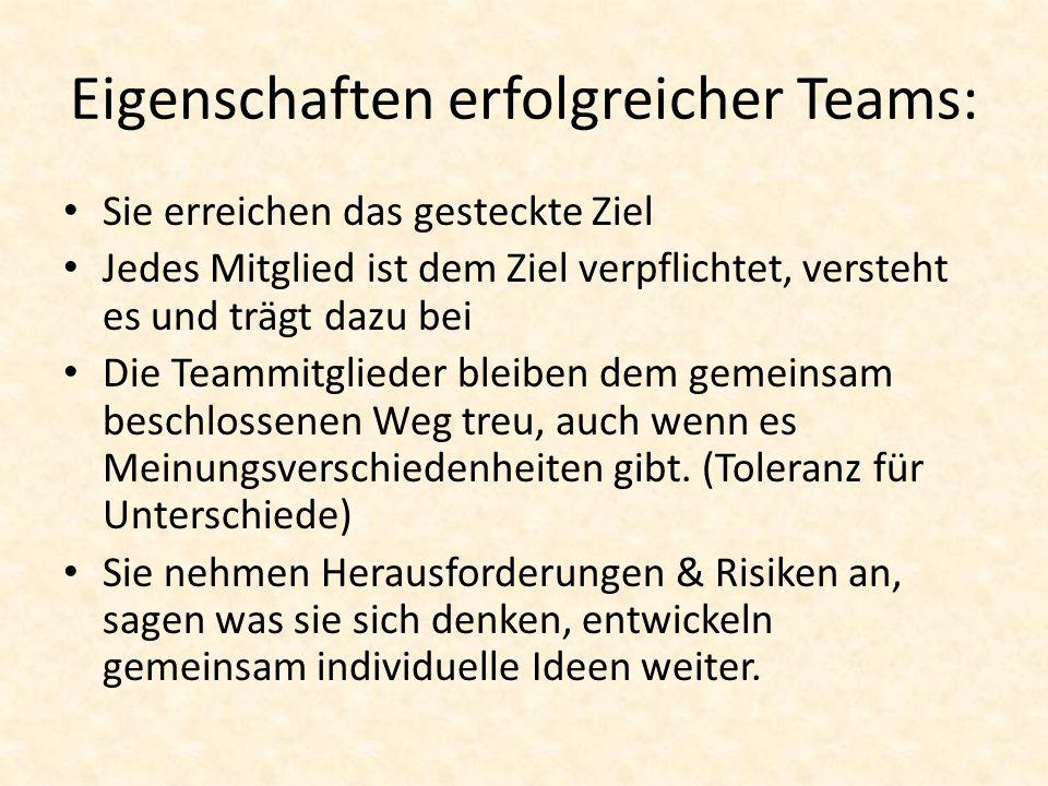 Eigenschaften erfolgreicher Teams: