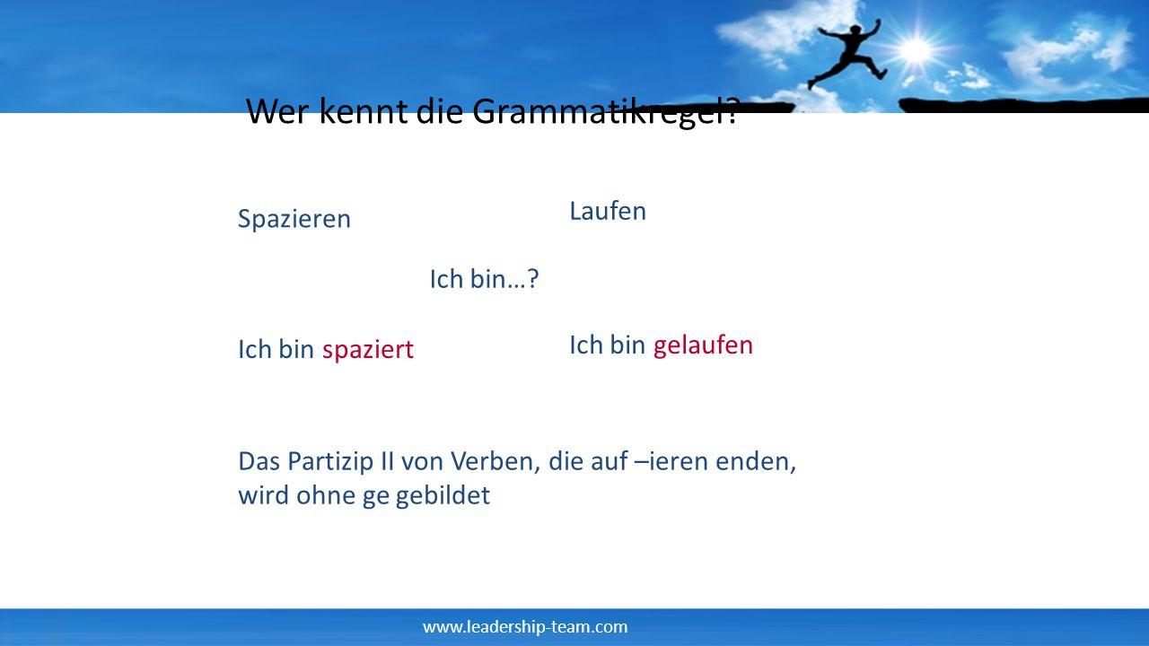 Wer kennt die Grammatikregel