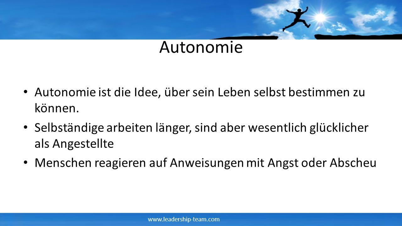 Autonomie Autonomie ist die Idee, über sein Leben selbst bestimmen zu können.