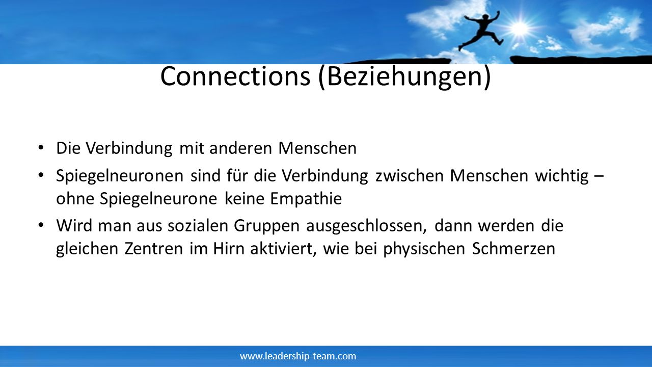 Connections (Beziehungen)