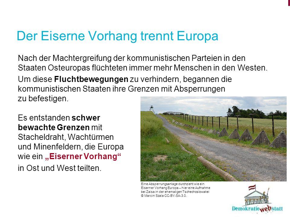 Der Eiserne Vorhang trennt Europa