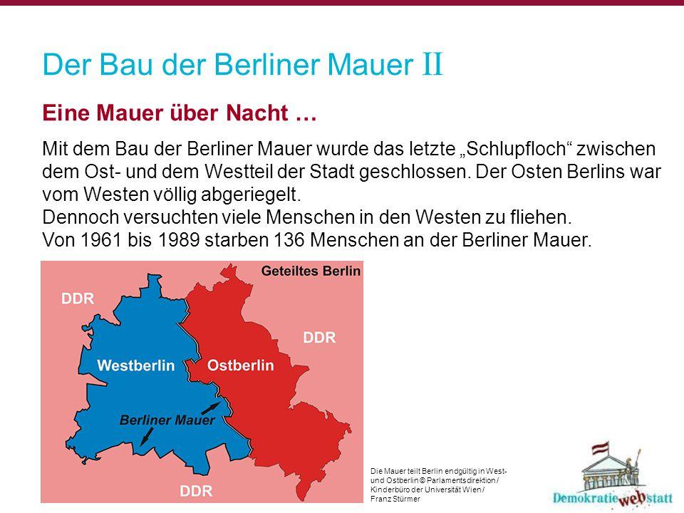 Der Bau der Berliner Mauer II