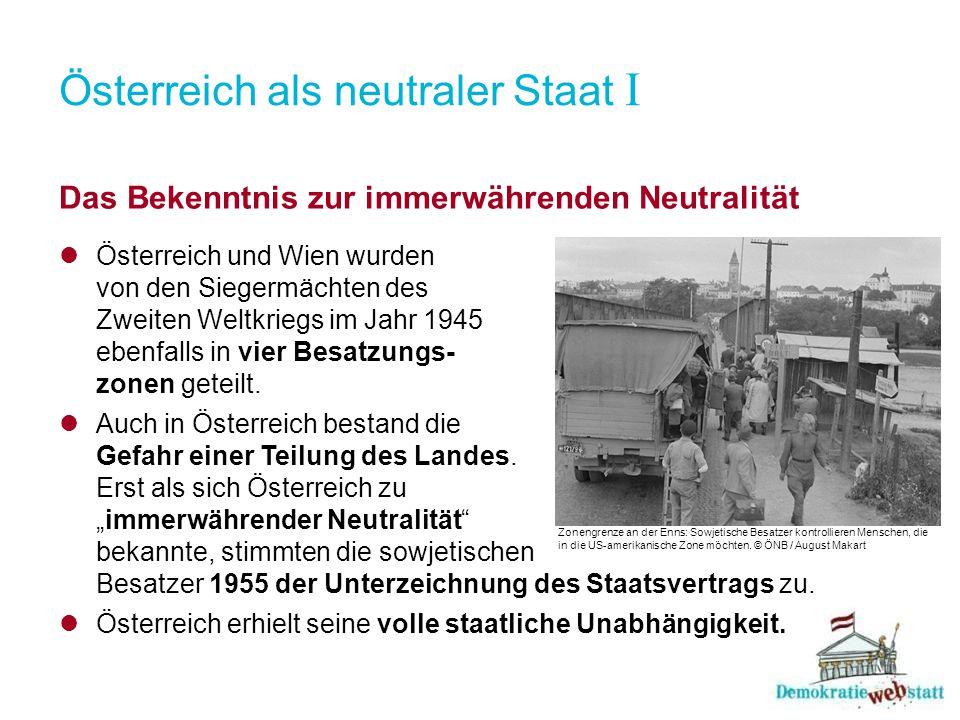 Österreich als neutraler Staat I