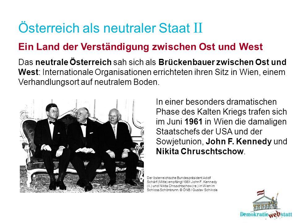 Österreich als neutraler Staat II