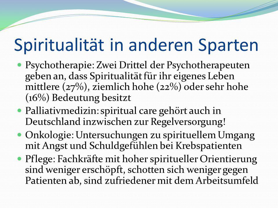 Spiritualität in anderen Sparten