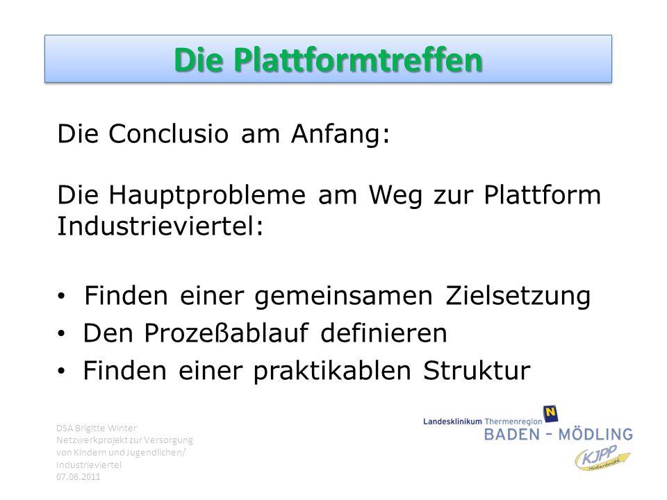 Die Plattformtreffen Die Conclusio am Anfang: