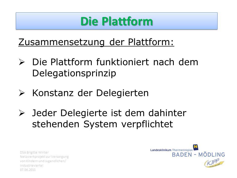 Die Plattform Zusammensetzung der Plattform: