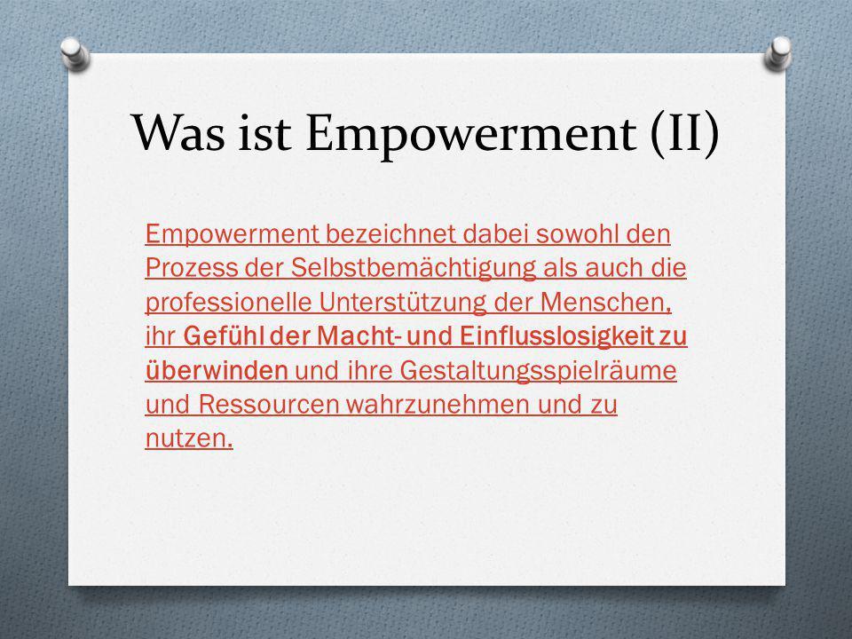 Was ist Empowerment (II)