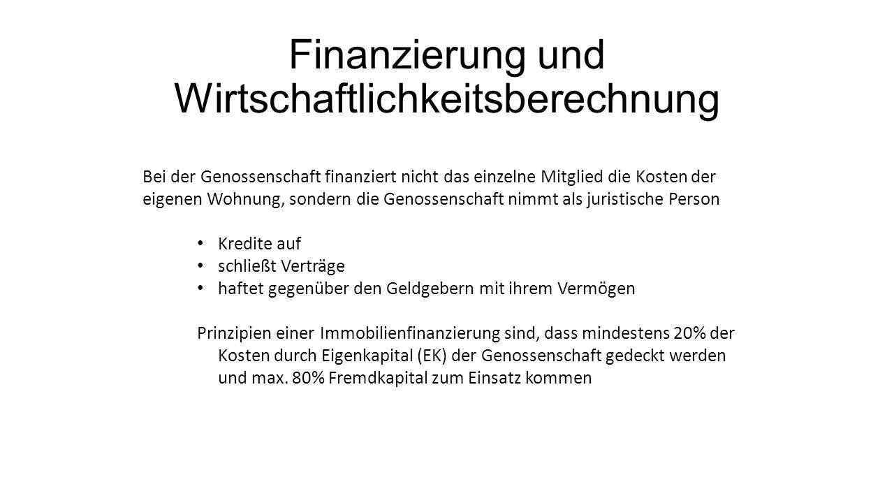 Finanzierung und Wirtschaftlichkeitsberechnung