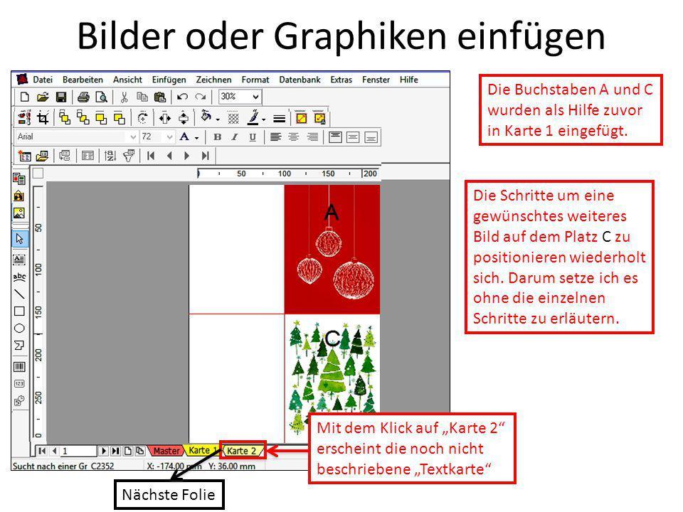 Bilder oder Graphiken einfügen