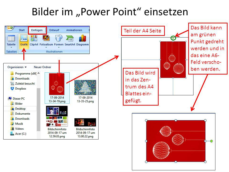 "Bilder im ""Power Point einsetzen"