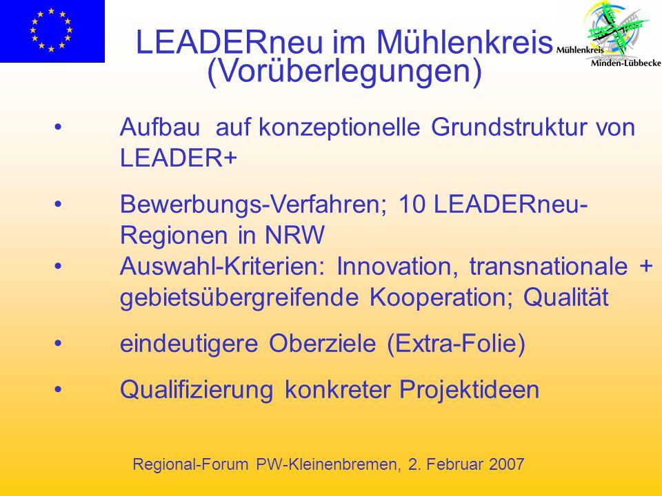 LEADERneu im Mühlenkreis (Vorüberlegungen)