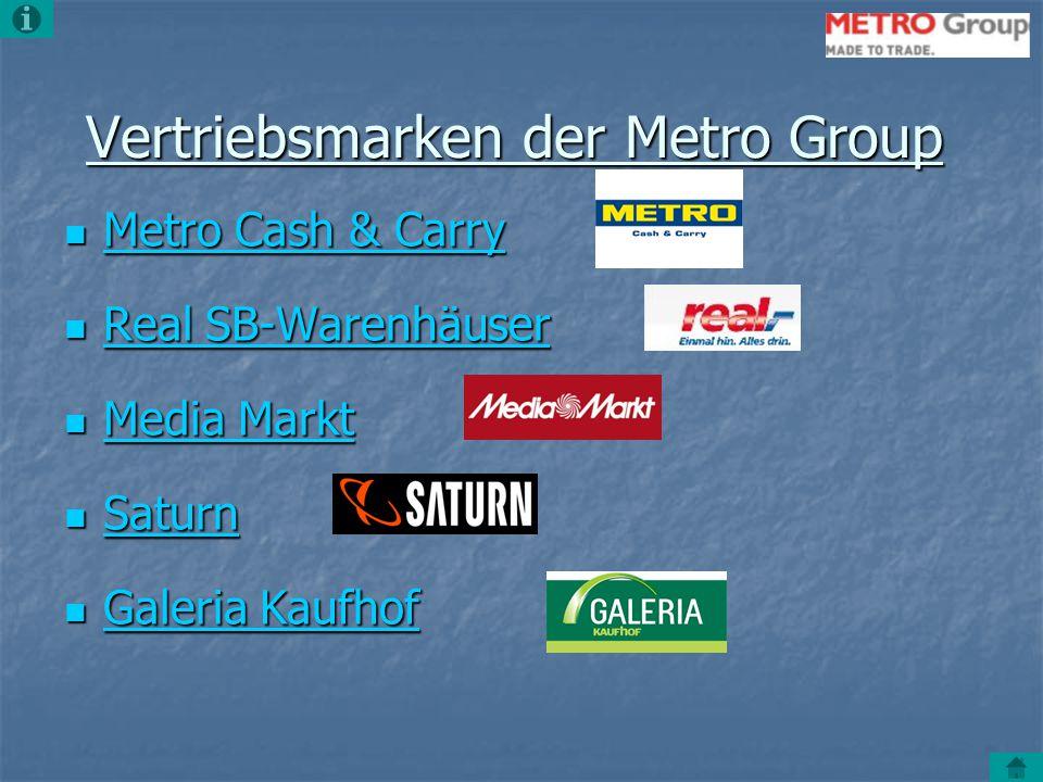 Vertriebsmarken der Metro Group