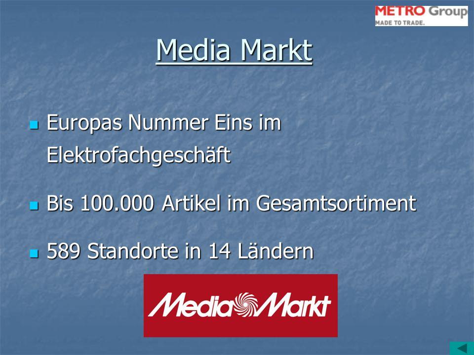 Media Markt Europas Nummer Eins im Elektrofachgeschäft