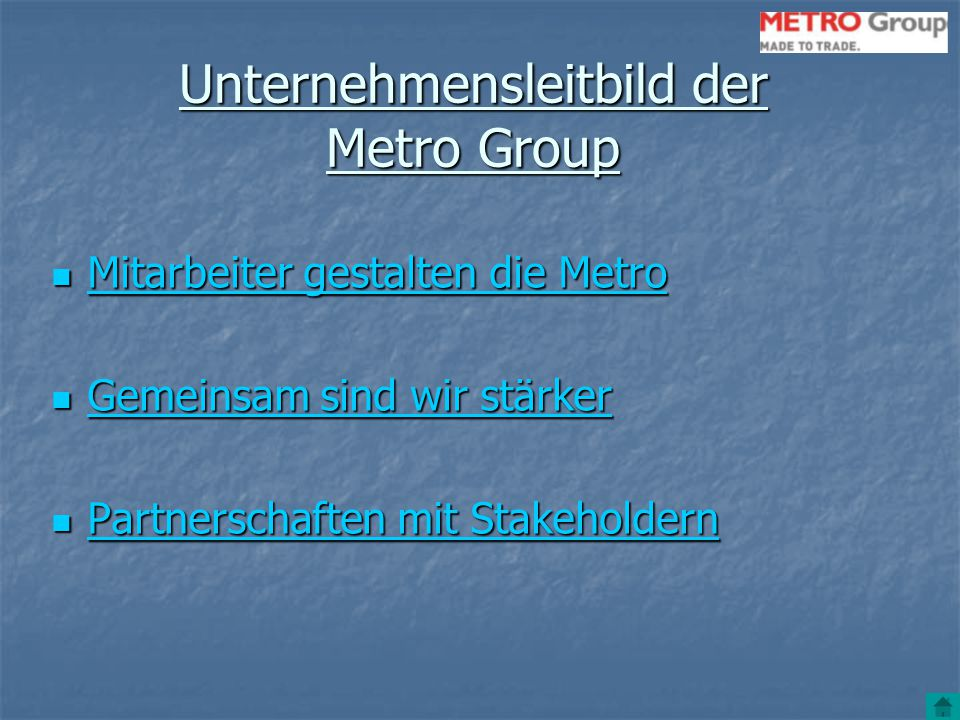 Unternehmensleitbild der Metro Group