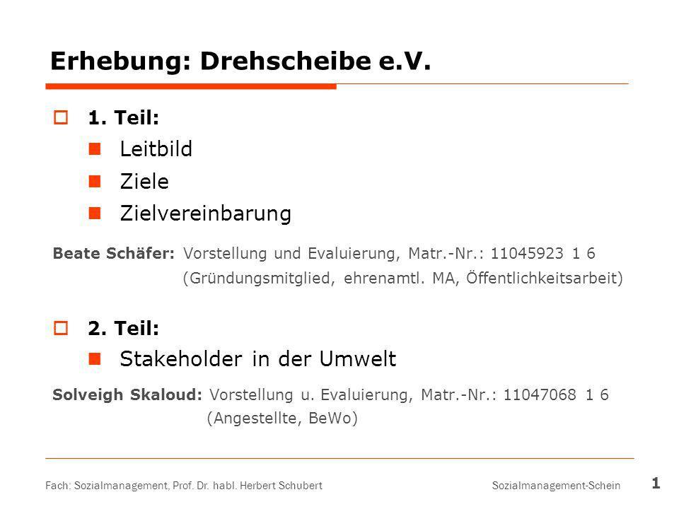 Erhebung: Drehscheibe e.V.