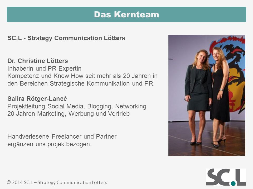 Das Kernteam SC.L - Strategy Communication Lötters