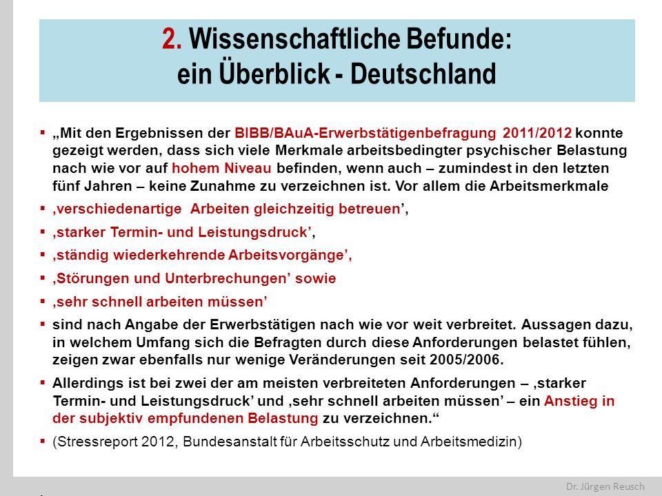 2. Wissenschaftliche Befunde: ein Überblick - Deutschland