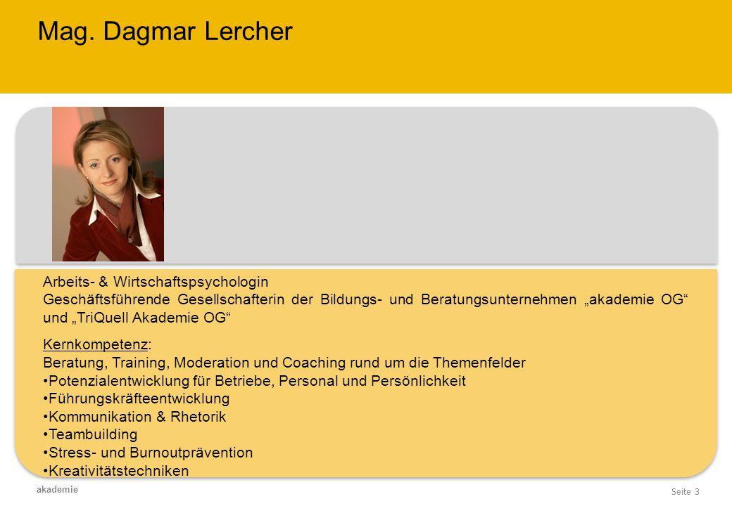 Mag. Dagmar Lercher Arbeits- & Wirtschaftspsychologin