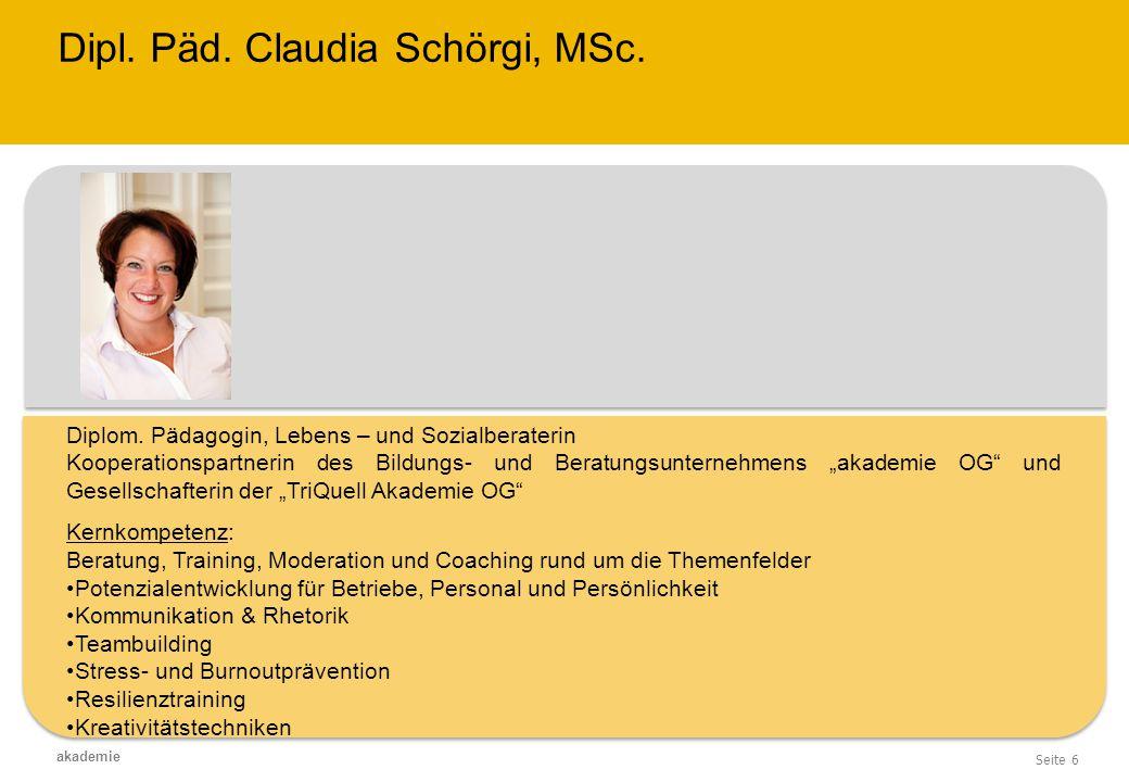 Dipl. Päd. Claudia Schörgi, MSc.