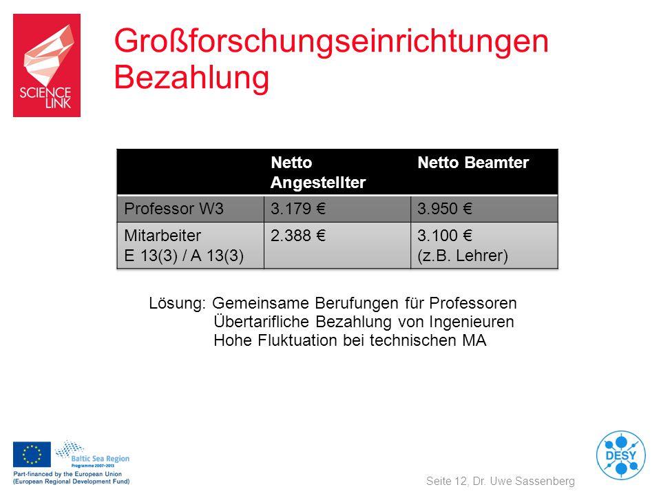 Großforschungseinrichtungen Bezahlung