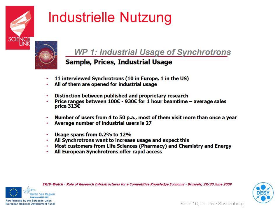 Industrielle Nutzung Seite 16, Dr. Uwe Sassenberg