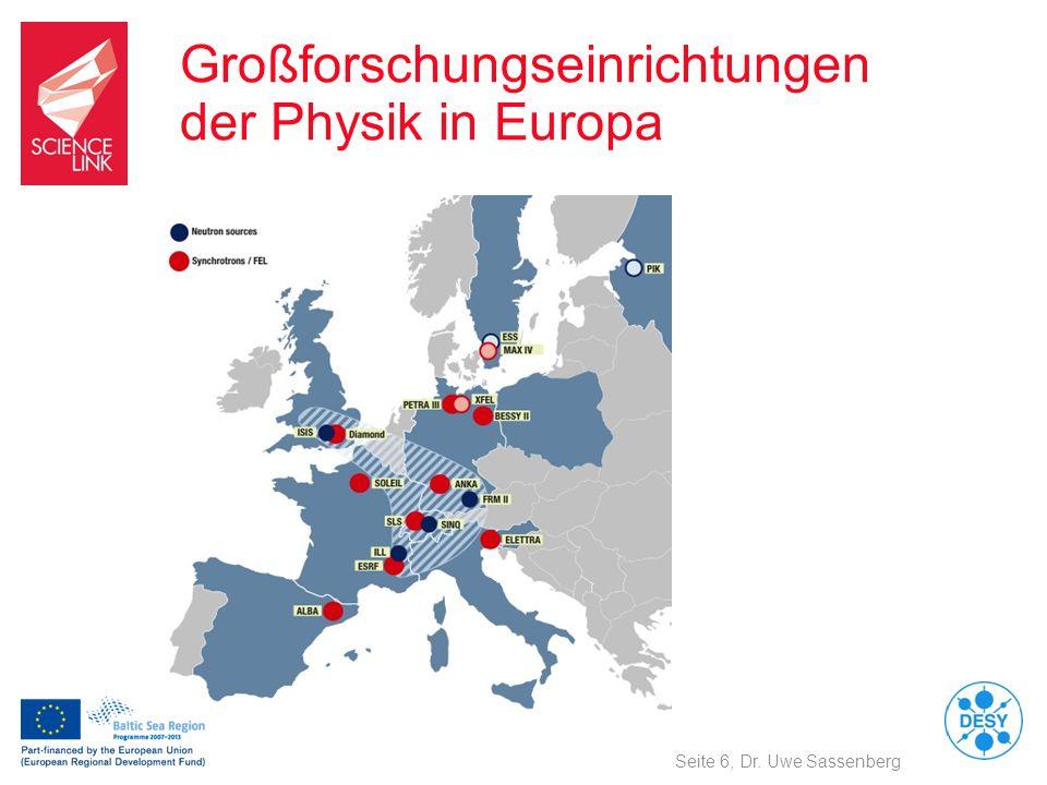 Großforschungseinrichtungen der Physik in Europa