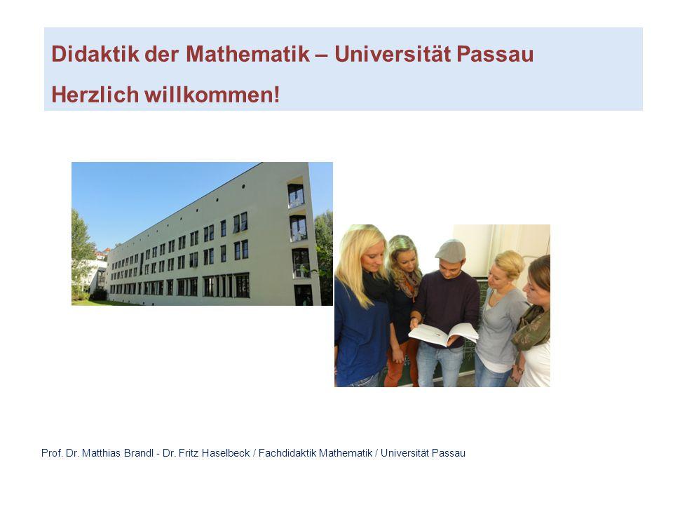 Didaktik der Mathematik – Universität Passau Herzlich willkommen!