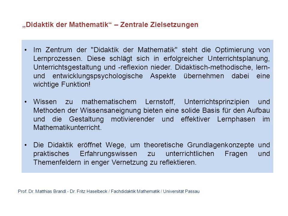 """Didaktik der Mathematik – Zentrale Zielsetzungen"