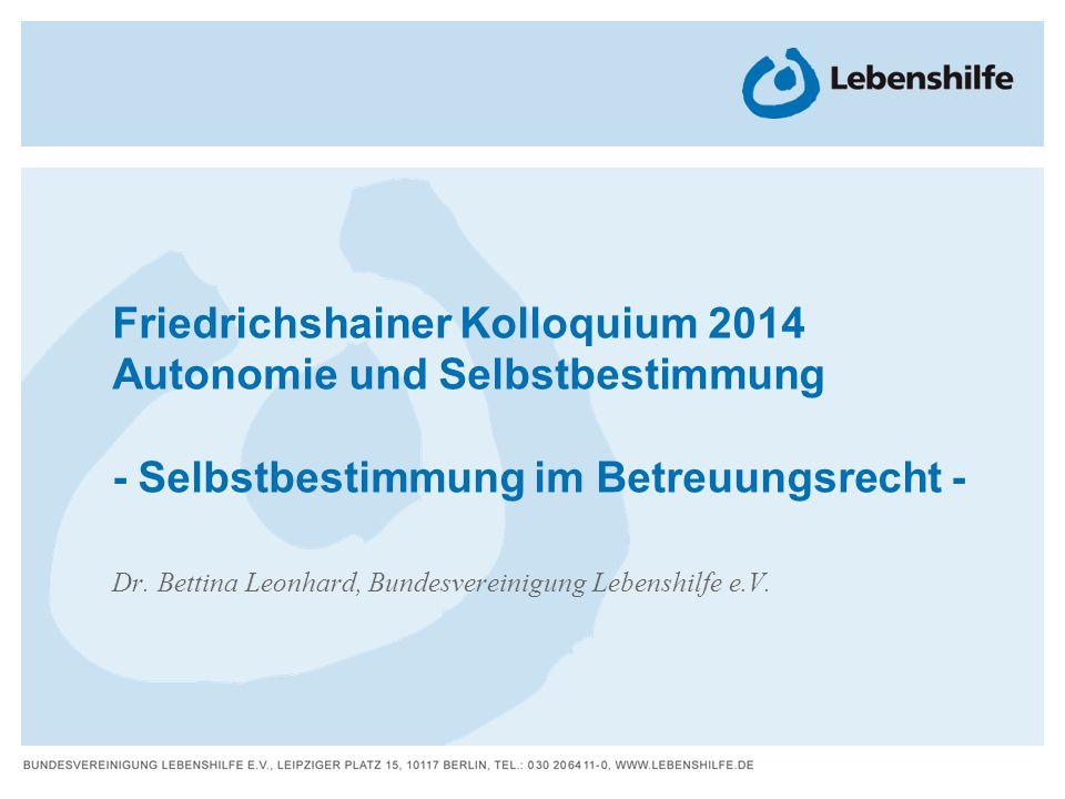 Dr. Bettina Leonhard, Bundesvereinigung Lebenshilfe e.V.