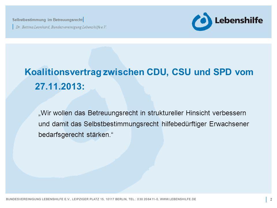 Koalitionsvertrag zwischen CDU, CSU und SPD vom 27.11.2013: