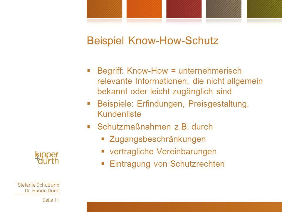 Beispiel Know-How-Schutz