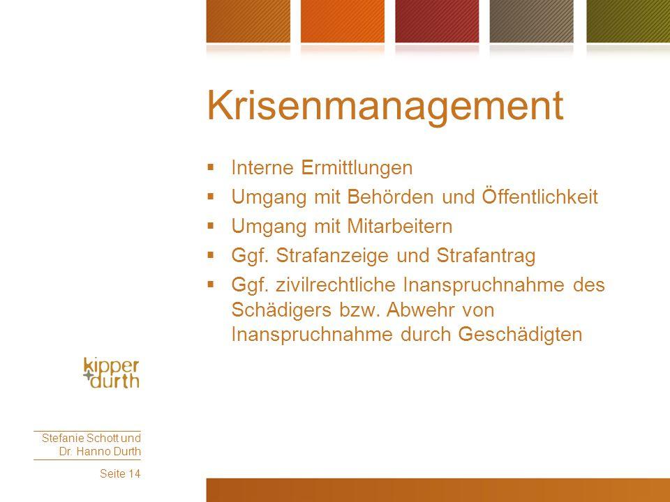 Krisenmanagement Interne Ermittlungen