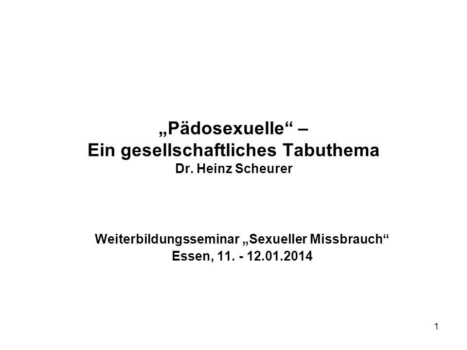 """""""Pädosexuelle – Ein gesellschaftliches Tabuthema Dr. Heinz Scheurer"""